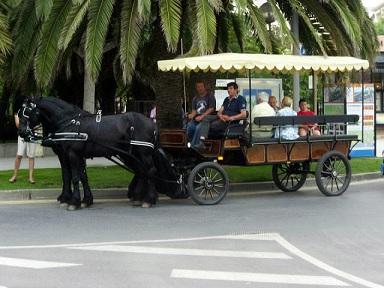 Carruaje para turistas en Cambrils